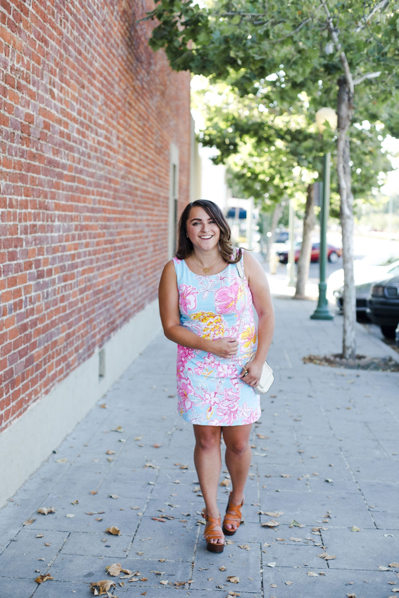 Lilly Pulitzer Floral Shift Dress featured by popular San Diego fashion blogger, The Brunette & The Beach