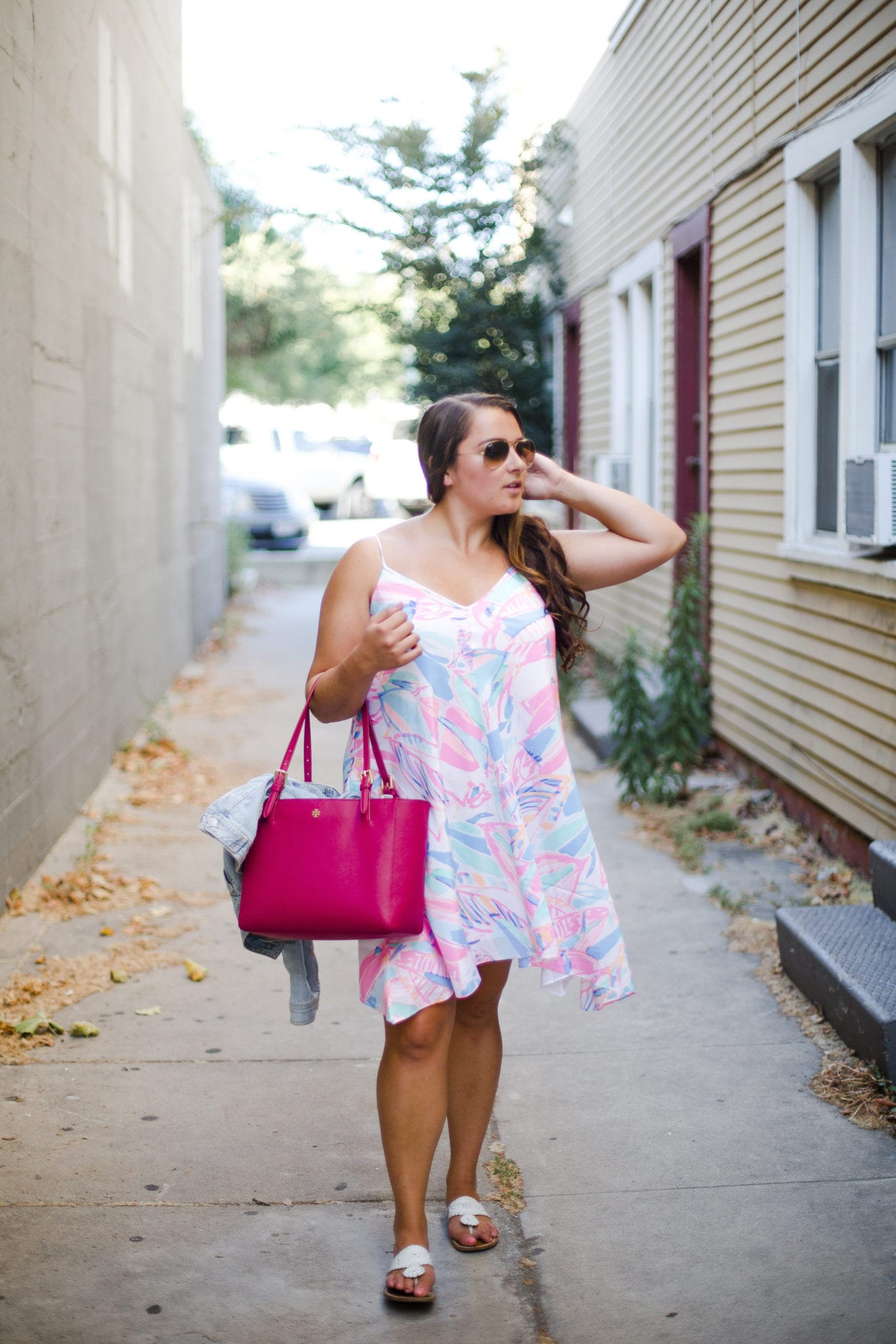 View More: http://melindahumphriesphotography.pass.us/clarissa-iraci    Out To Sea Lilly Pulitzer Dress styled by popular San Diego fashion blogger, The Brunette & The Beach