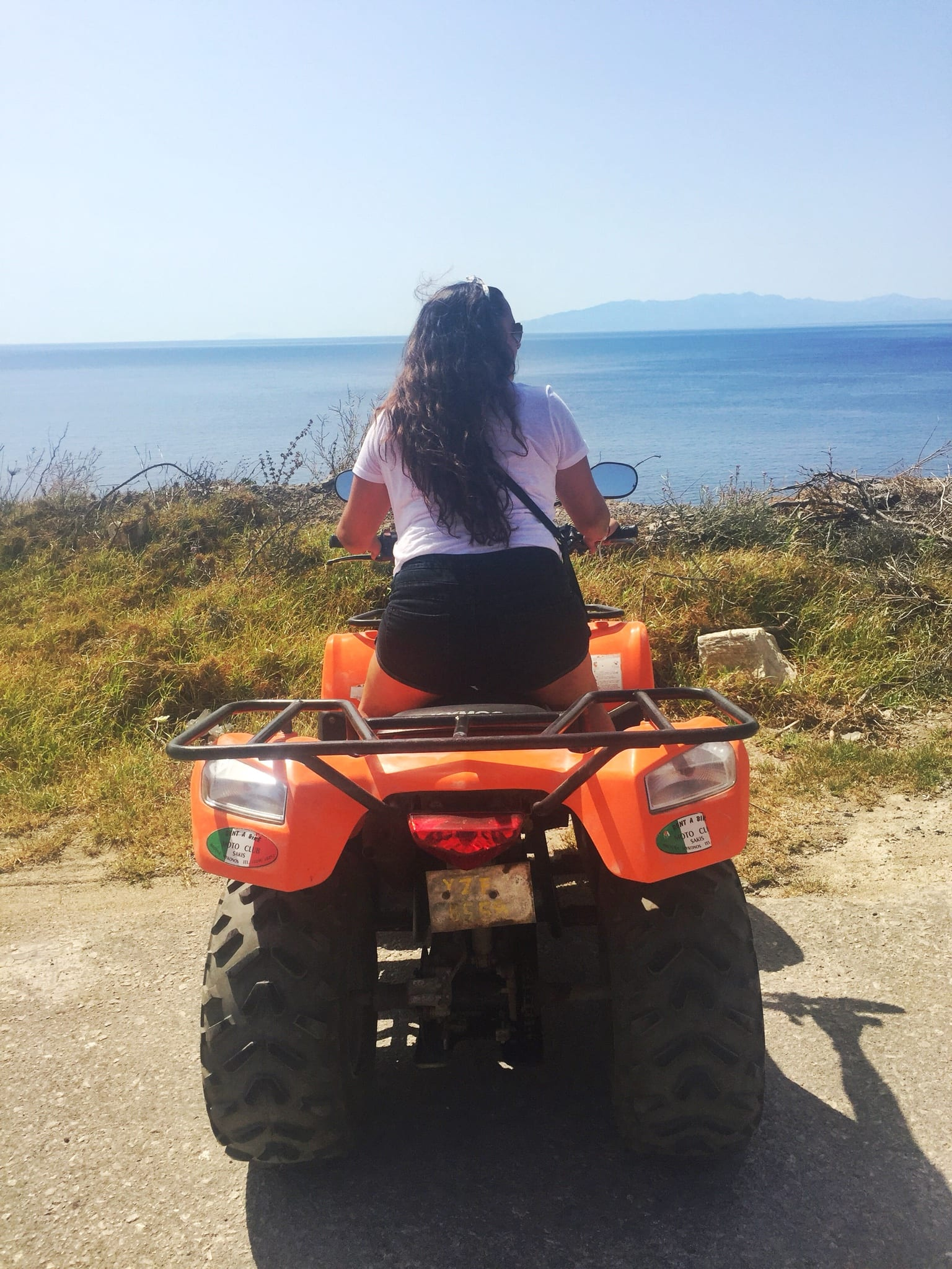 mykonos greece atv ride | The Best Greek Islands: the Ultimate Guide featured by popular San Diego travel blogger, The Brunette & The Beach: Mykonos