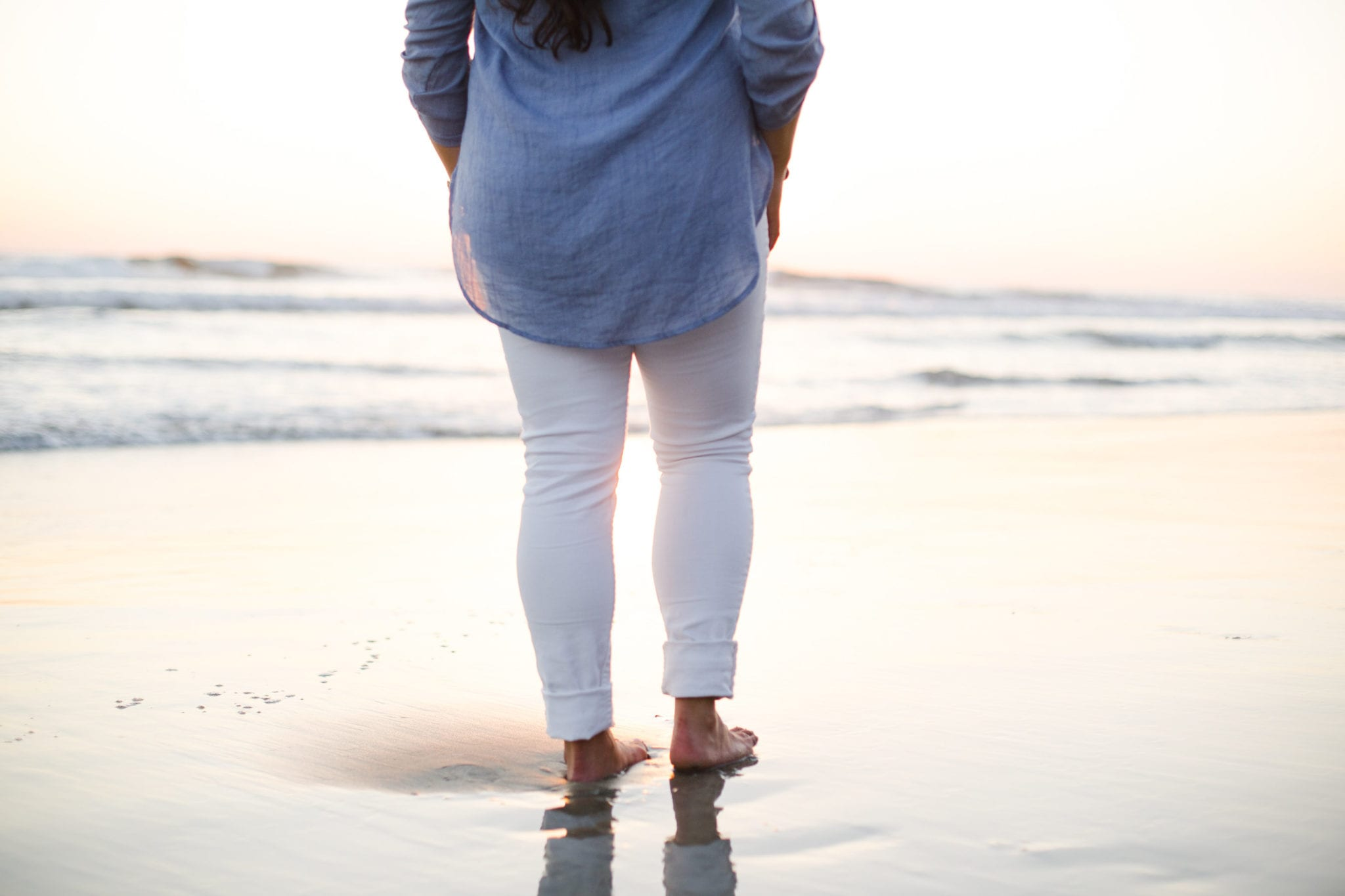 View More: http://melindahumphriesphotography.pass.us/session2 | Nordstrom blue linen blouse styled by popular San Diego fashion blogger, The Brunette & The Beach