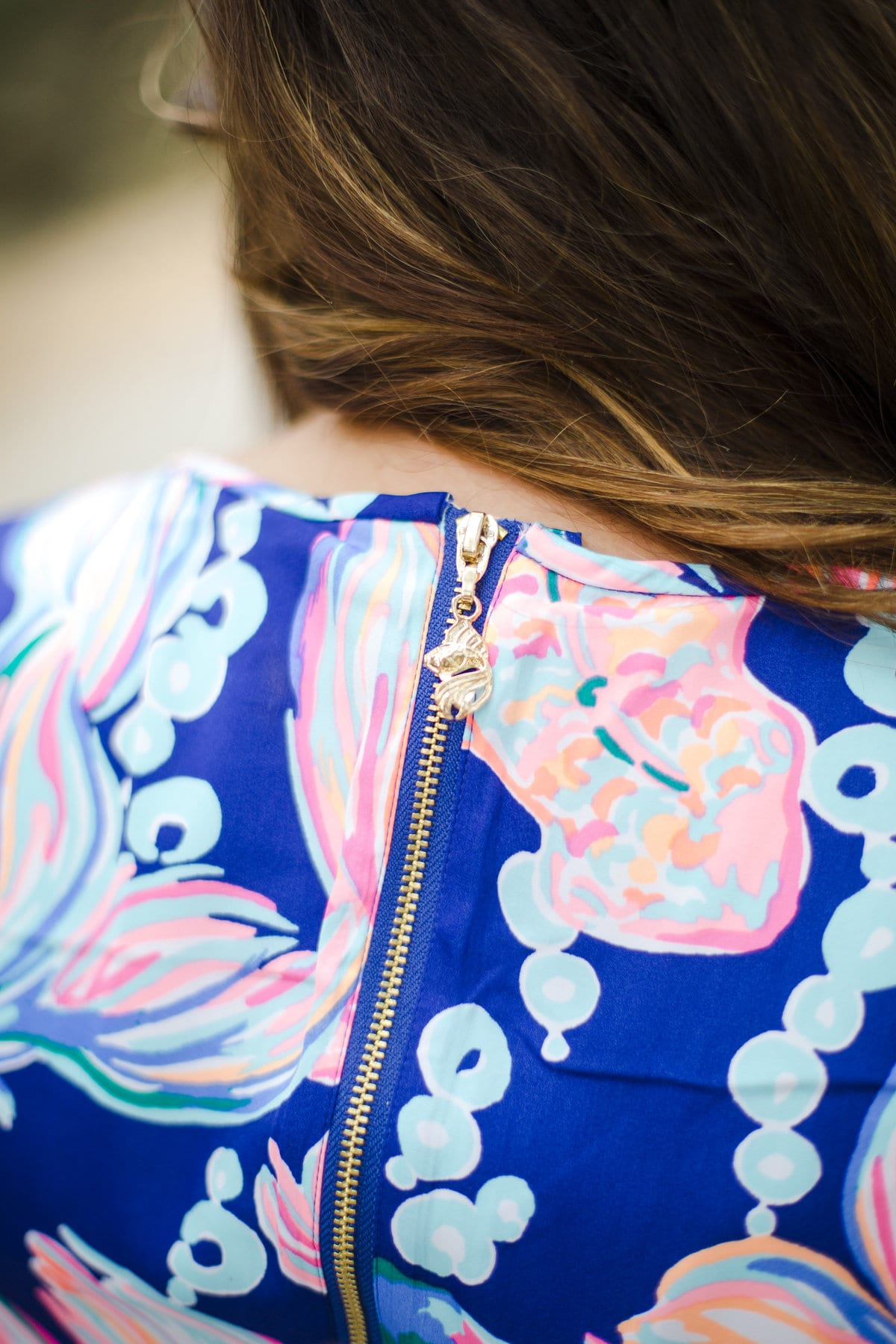 Lilly Pulitzer Dress styled by popular San Diego fashion blogger, The Brunette & The Beach