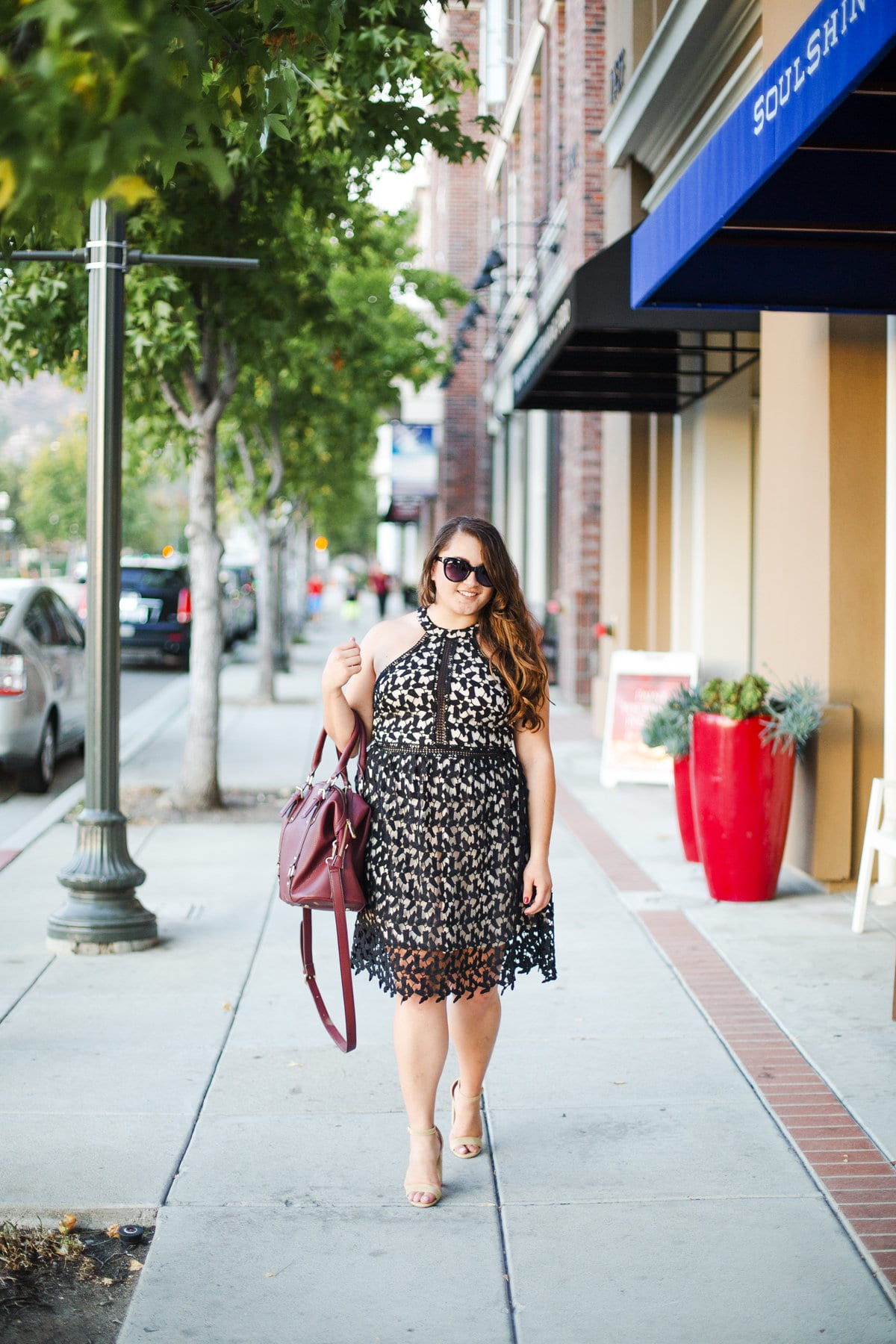 the perfect fall lace dress
