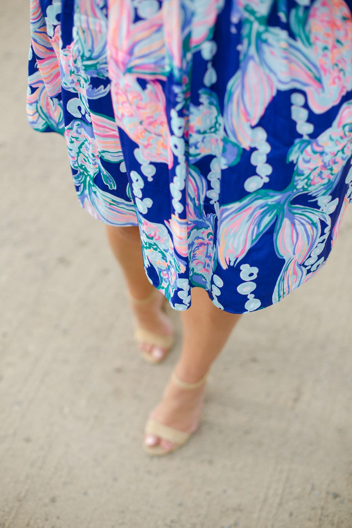 going coastal dress lilly pulitzer | Lilly Pulitzer Dress styled by popular San Diego fashion blogger, The Brunette & The Beach