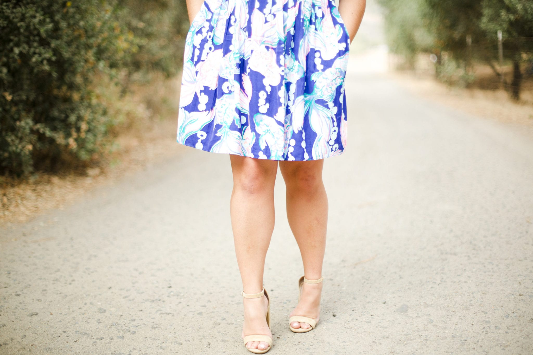 steve madden heels | Lilly Pulitzer Dress styled by popular San Diego fashion blogger, The Brunette & The Beach