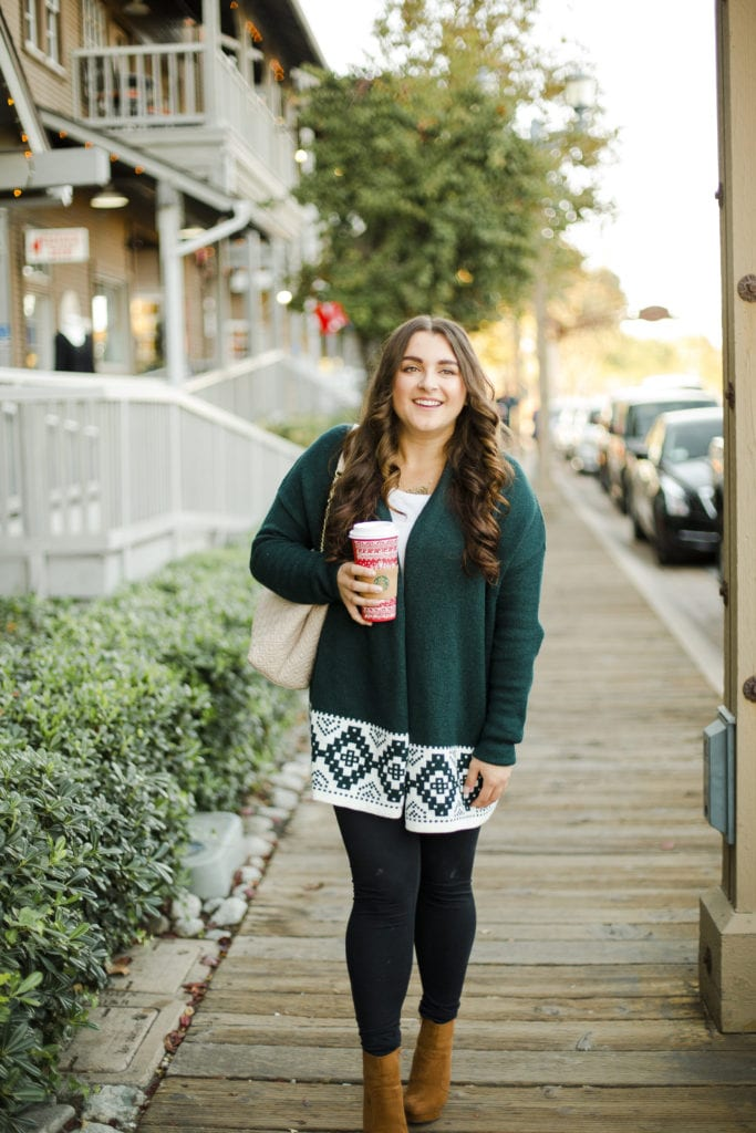 Green Sweater | Thanksgiving Outfit | Holiday Style | Instagram: @clarissaairaci