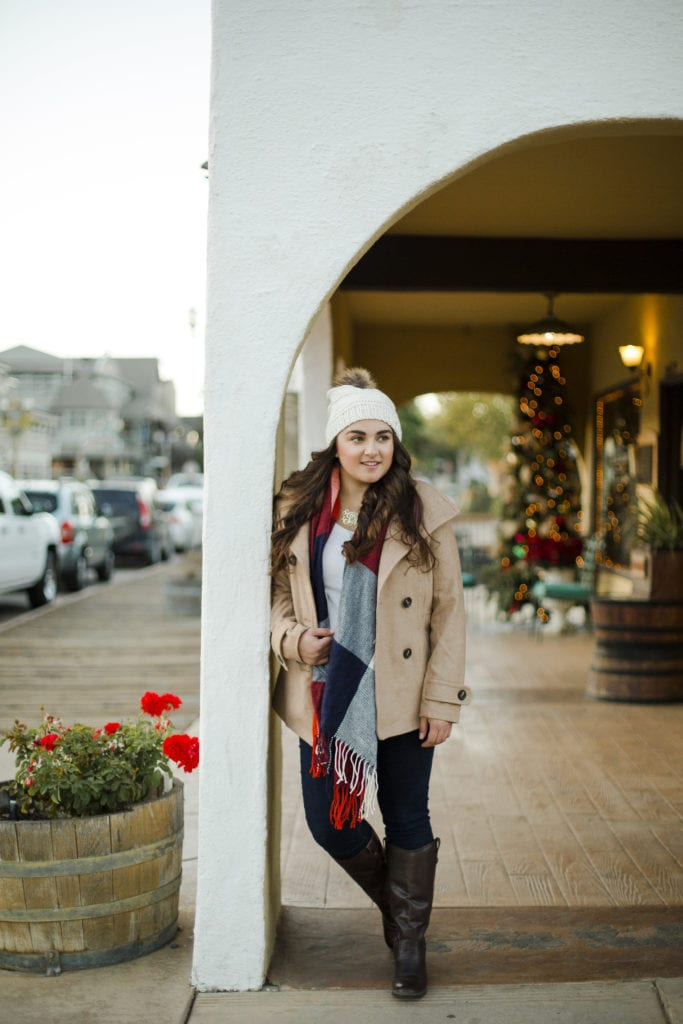 holiday outfit cold weather outfit | Warm Winter Outfit featured by top San Diego fashion blog, The Brunette & The Beach