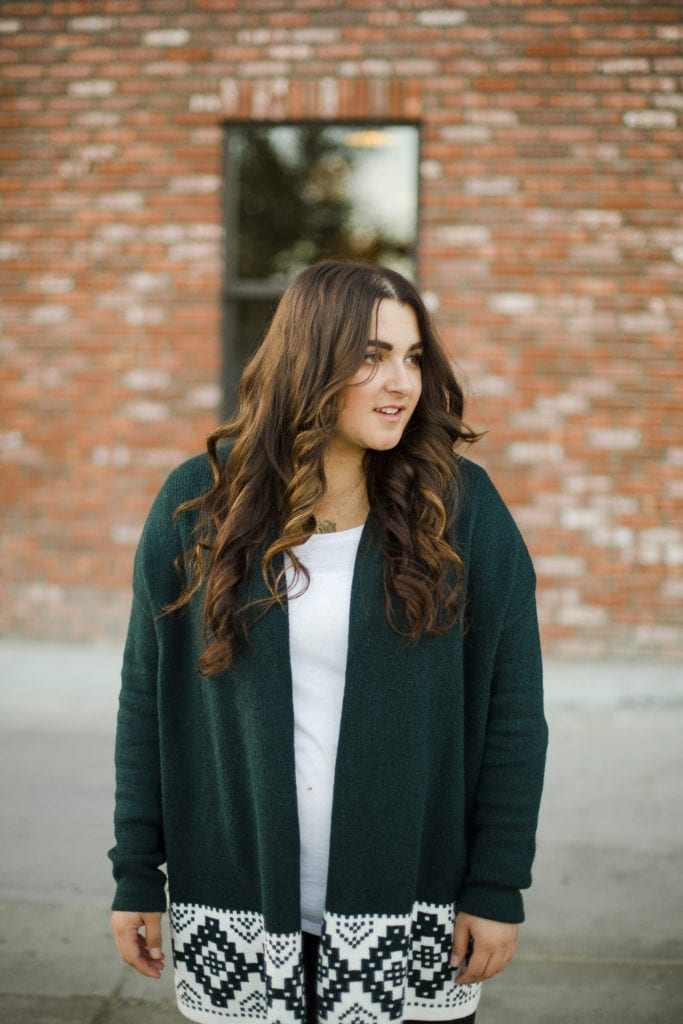 Green Sweater   Thanksgiving Outfit   Instagram: @clarissaairaci