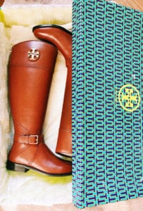 tory burch riding boots | How To Stretch Leather Boots featured by popular San Diego fashion blogger, The Brunette and the Beach