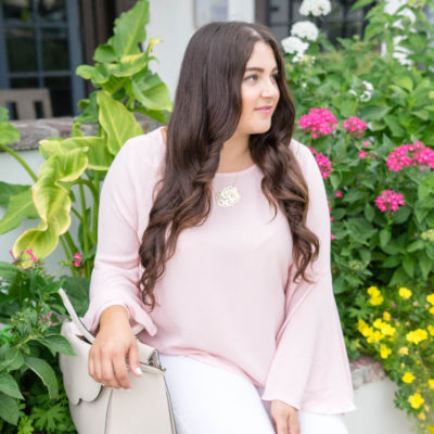 Pretty Pink Bell Sleeve Top