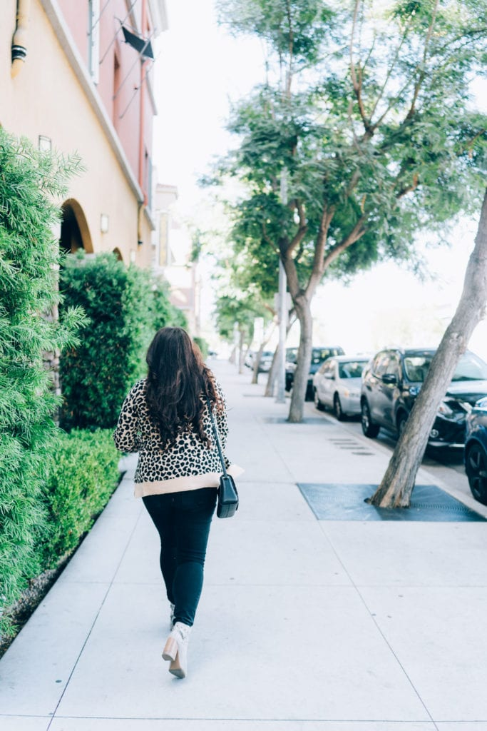 $23 Leopard Cardigan | Leopard cardigan styled for Fall by top San Diego fashion blogger, The Brunette & The Beach