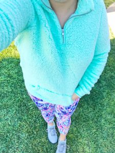 Sherpa Pullover Lilly Pulitzer Leggings