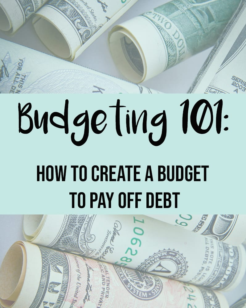 How To Create A Budget to Pay Off Debt , 2 essential steps featured by top US lifestyle blog, The Brunette and the Beach