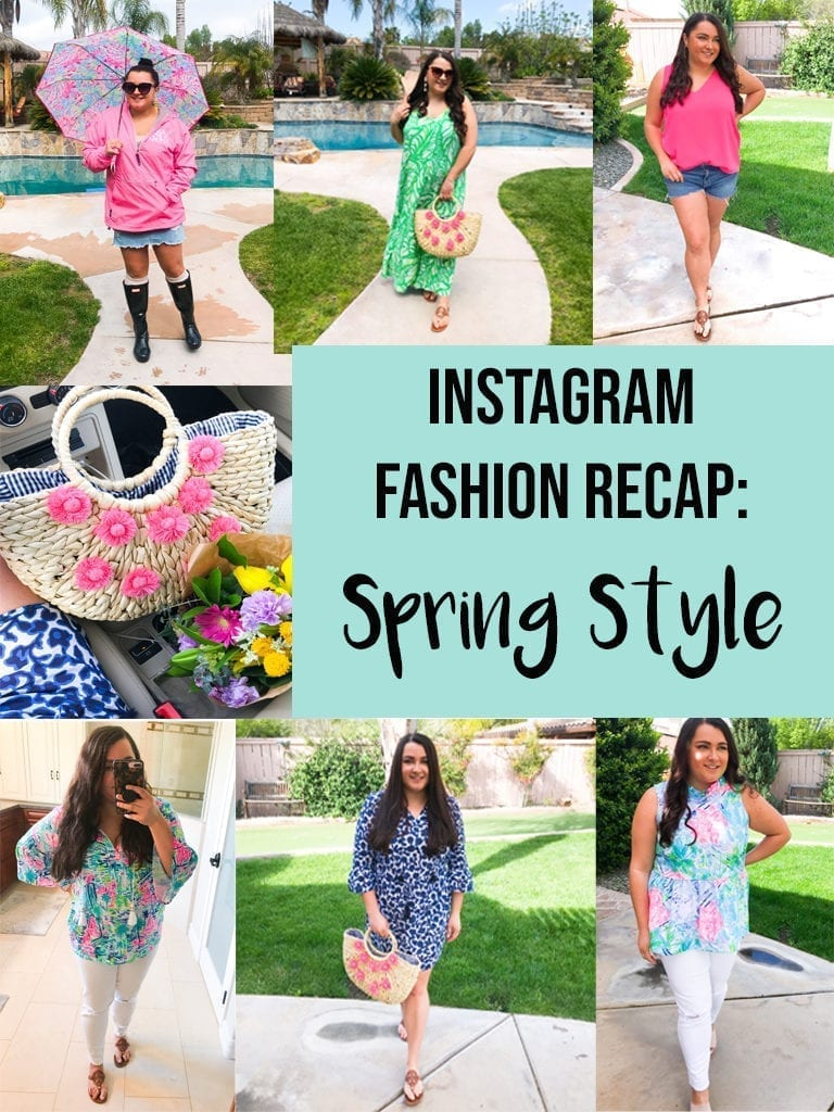 Instagram Fashion Recap:  Spring Style featured by top US life and style blog, The Brunette & The Beach