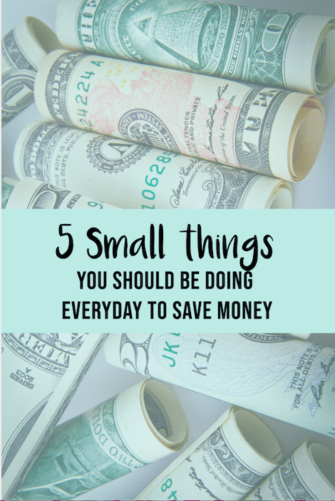 small things to do to save money