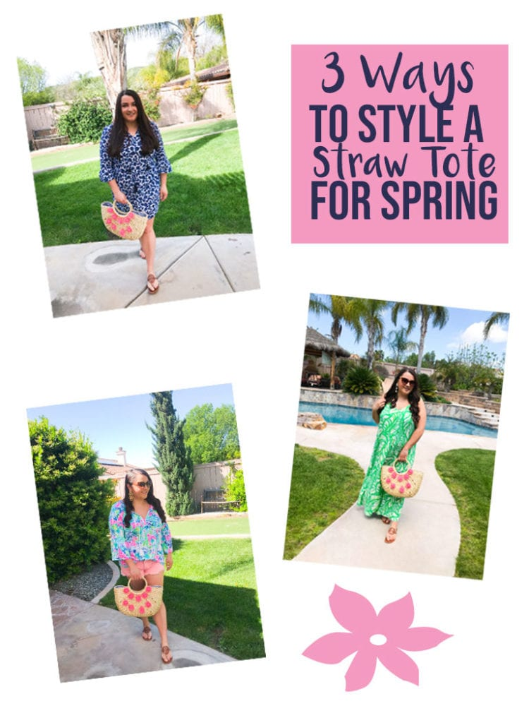 3 Ways To Style A Straw Tote For Spring