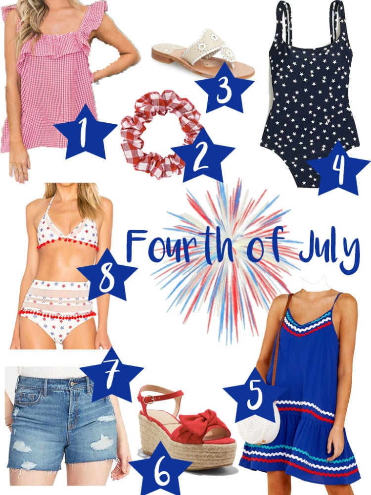 Cute 4th Of July Outfit Ideas feature by top US life and style blog, The Brunette & The Beach