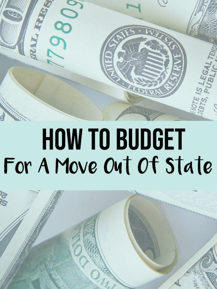 budget for a move out of state