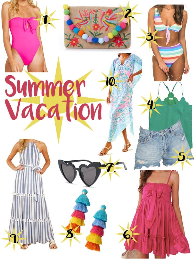 summer vacation outfits