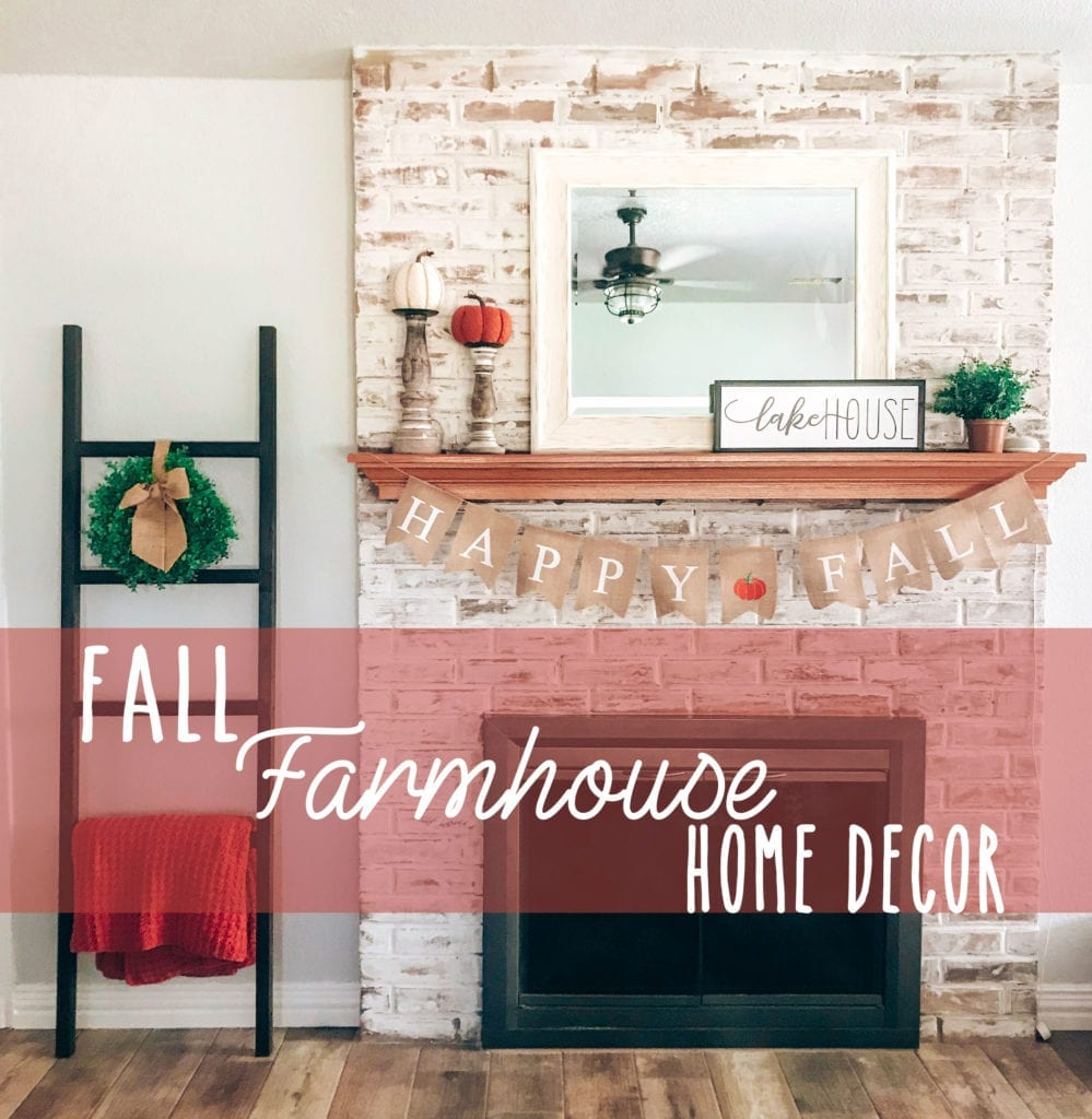Farmhouse Fall Decor featured by top US lifestyle blog, The Brunette & The Beach