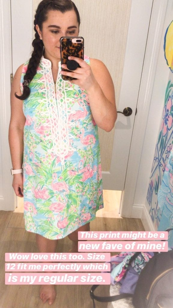 Lilly Pulitzer Dress | Lilly Pulitzer After Party Sale 2019: Updated Tips + GIVEAWAY by popular San Diego fashion blog, The Brunette and the Beach: image of a woman wearing a Lilly Pulitzer dress.