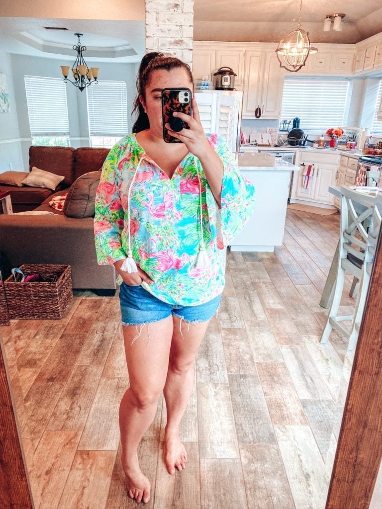 Lilly Pulitzer After Party Sale Haul by popular Southern California blog, The Brunette and the Beach: image of a woman wearing Lilly Pulitzer Del Lago Tunic.